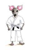 Judo mouse illustration Royalty Free Stock Photos