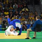 Judo. Paralympics competition royalty free stock photography