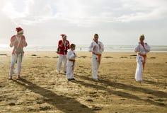 Judo Santas Royalty-vrije Stock Foto