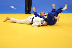 Judo - Siegesfeier Stockbilder
