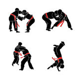 Judo. Some images with different position used in judo Royalty Free Stock Photo
