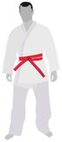 Judo Sport. Conceptual image showing sportsman standing Royalty Free Stock Photo