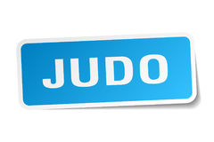 Judo square sticker. On white Royalty Free Stock Photography
