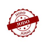 Judo stamp illustration. Judo red stamp seal illustration design Royalty Free Stock Images