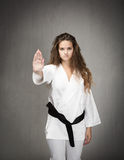 Judo stop gesture Royalty Free Stock Photos