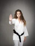 Judo stop gesture Royalty Free Stock Photos