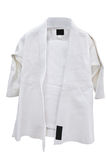 Judo suit. Under the white background royalty free stock photography