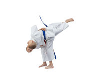 Judo throws in perfoming athletes in judogi Royalty Free Stock Photography