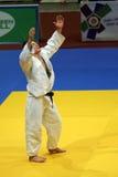 Judo - victory celebration Royalty Free Stock Photo