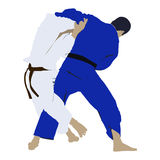 Judo wrestling fight Royalty Free Stock Photography