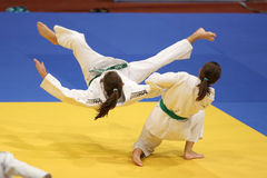 Judoactie Stock Foto