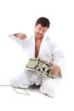 judoist aliéné Photo libre de droits