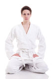 Judoist karate man Stock Images
