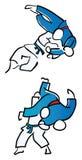 Judokämpfer vektor abbildung