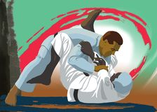 Judoka Royalty Free Stock Photo