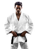 Judoka fighter man silhouette Stock Photos