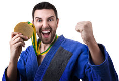 Judoka fighter man - Sports themes Royalty Free Stock Images
