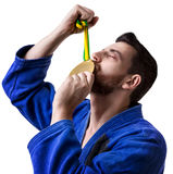 Judoka fighter man - Sports themes Stock Images