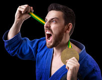 Judoka fighter man - Sports themes Stock Photos