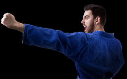 Judoka fighter man - Sports themes Stock Photography