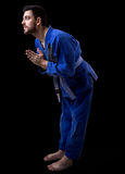 Judoka fighter man - Sports themes Royalty Free Stock Photo