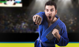 Judoka fighter man - Sports themes Stock Photo