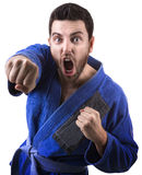 Judoka fighter man - Sports themes Royalty Free Stock Photos