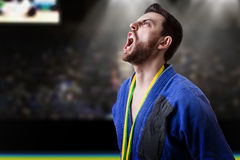Judoka fighter man - Sports themes Stock Image