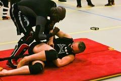 Judoka-Training mit HPVT-Maske stockbilder