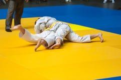 Judowettbewerbe unter Mädchen, Orenburg, Russland Stockbild