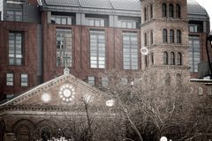 Judson Memorial Church in spring royalty free stock photos