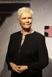 Judy Dench. Wax statue at Madame Tussauds in London royalty free stock images