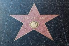 Judy Garland Hollywood Star. HOLLYWOOD, CALIFORNIA - February 8 2015: Judy Garland's Hollywood Walk of Fame star on February 8, 2015 in Hollywood, CA Royalty Free Stock Image