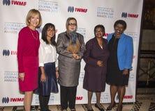 Judy Woodruff, Bopha Phorn, Najiba Ayubi, Edna Machiori und Gwen Ifill Lizenzfreie Stockfotografie