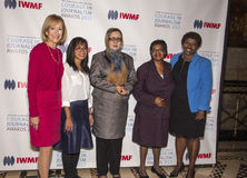 Judy Woodruff, Bopha Phorn, Najiba Ayubi, Edna Machiori y Gwen Ifill Fotografía de archivo libre de regalías