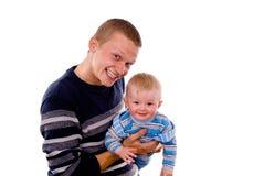 Juegan al papá con un pequeño niño fotos de archivo