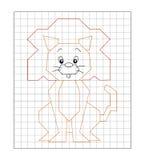 Juego 15 - Coloree el león stock de ilustración