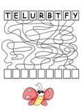 Juego 24, compuesto la palabra ilustración del vector