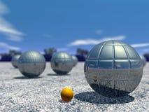 Juego al aire libre del petanque - 3D rinden ilustración del vector