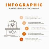 juego, Boss, leyenda, amo, CEO Infographics Template para la p?gina web y presentaci?n L?nea icono gris con estilo infographic an stock de ilustración