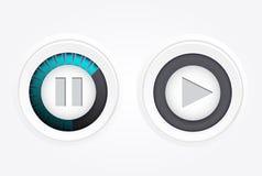 Juego, botón de pausa Vector Fotografía de archivo libre de regalías