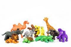 Juego Clay World Figuras hechas del plasticine Naturaleza salvaje Foto de archivo
