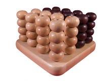 Juego con las bolas blancas y negras Imagen de archivo libre de regalías