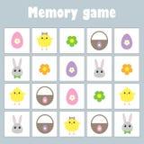 Juego con los huevos de Pascua de la decoración de las imágenes para los niños, juego para los niños, actividad preescolar, tarea ilustración del vector