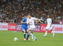 Juego Cuarto-final Inglaterra v Italia del EURO 2012 de la UEFA Fotografía de archivo libre de regalías