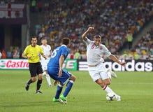 Juego Cuarto-final Inglaterra v Italia del EURO 2012 de la UEFA Foto de archivo libre de regalías