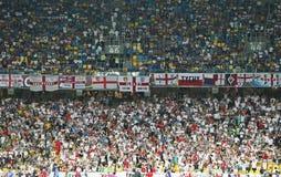 Juego Cuarto-final Inglaterra v Italia del EURO 2012 de la UEFA Foto de archivo