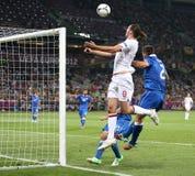 Juego Cuarto-final Inglaterra v Italia del EURO 2012 de la UEFA Imagen de archivo