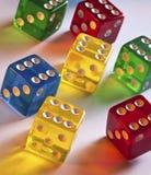 Juego - dados coloreados   Imagen de archivo