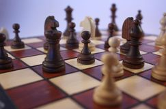 Juego de ajedrez. Imágenes de archivo libres de regalías